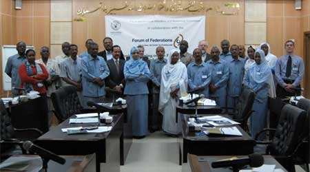 Participants for the 'In Depth Technical Training on the Practice of Fiscal Federalism' gathered on day one.