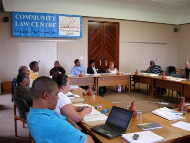 Photo: Participants at South African roundtable discuss local governance February 8th and 9th in Cape Town.