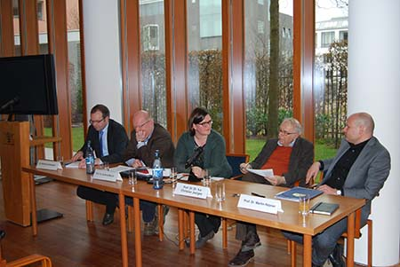 The panel talks about the book.