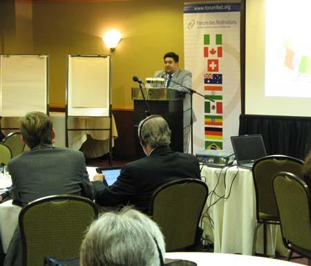 Forum President Rupak Chattopadhyay. Ottawa,Canada
