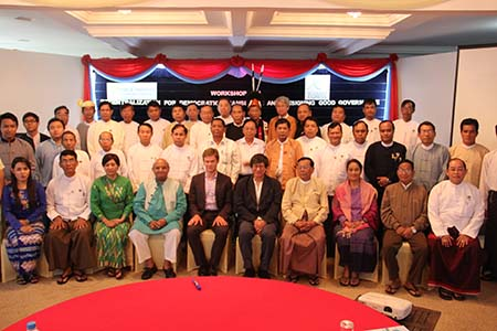 Members of the training session held in Burma in Aug 2013.
