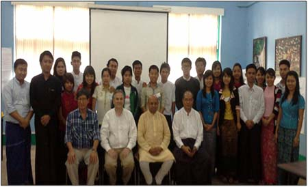 Participants of the workshop held in Burma
