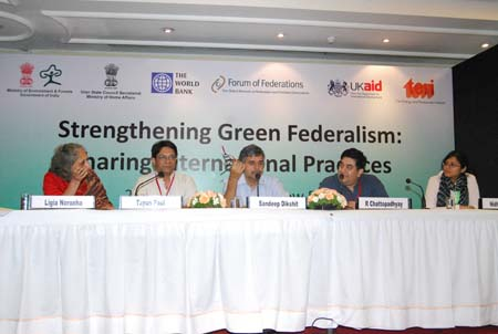 Photo: Some members of the panel at the Conference on Strengthening Green Federalism: Sharing International Practices-Oct 29-30, 2012. (India)
