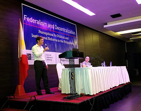 Mr. Felix Knuepling speaks to the conference which was held in Manila, Philippines, 4 – 5 September 2015