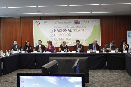 Photo: Members during the Forum on Municipal Climate Change Action Plans in Mexico.
