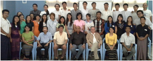Members of the Training of Trainers Seminar in Yangon, February 17-21, 2014.
