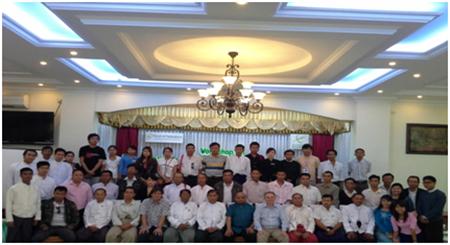 Members of the two and a half day workshop held in Myanmar, Feb 23-25,2014.