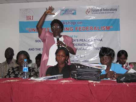 "Photo: The Forum's workshop in Sudan, ""Understanding Federalism""  targets on empowering Southern Sudanese women."