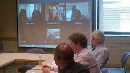 Photo: Experts joined in on the Workshop via Video Conferencing.