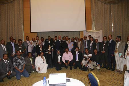 Participants who attended the workshop in Yemen's Capital on Marc 2-3, 2013.