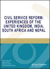 Civil Service Reform: Experiences of the United Kingdom, India, South Africa and Nepal Cover