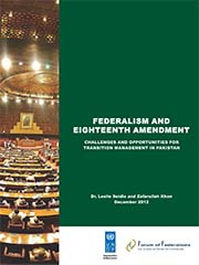 Report: Federalism and Eighteenth Amendment Cover