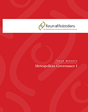 Report: Metropolitan Governance 1 Cover