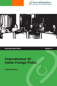 Federalisation Of Indian Foreign Policy Number 13 Cover