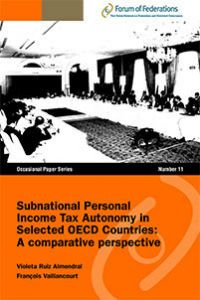 Subnational Personal Income Tax Autonomy in Selected OECD Countries: A comparative perspective Number 11 Cover