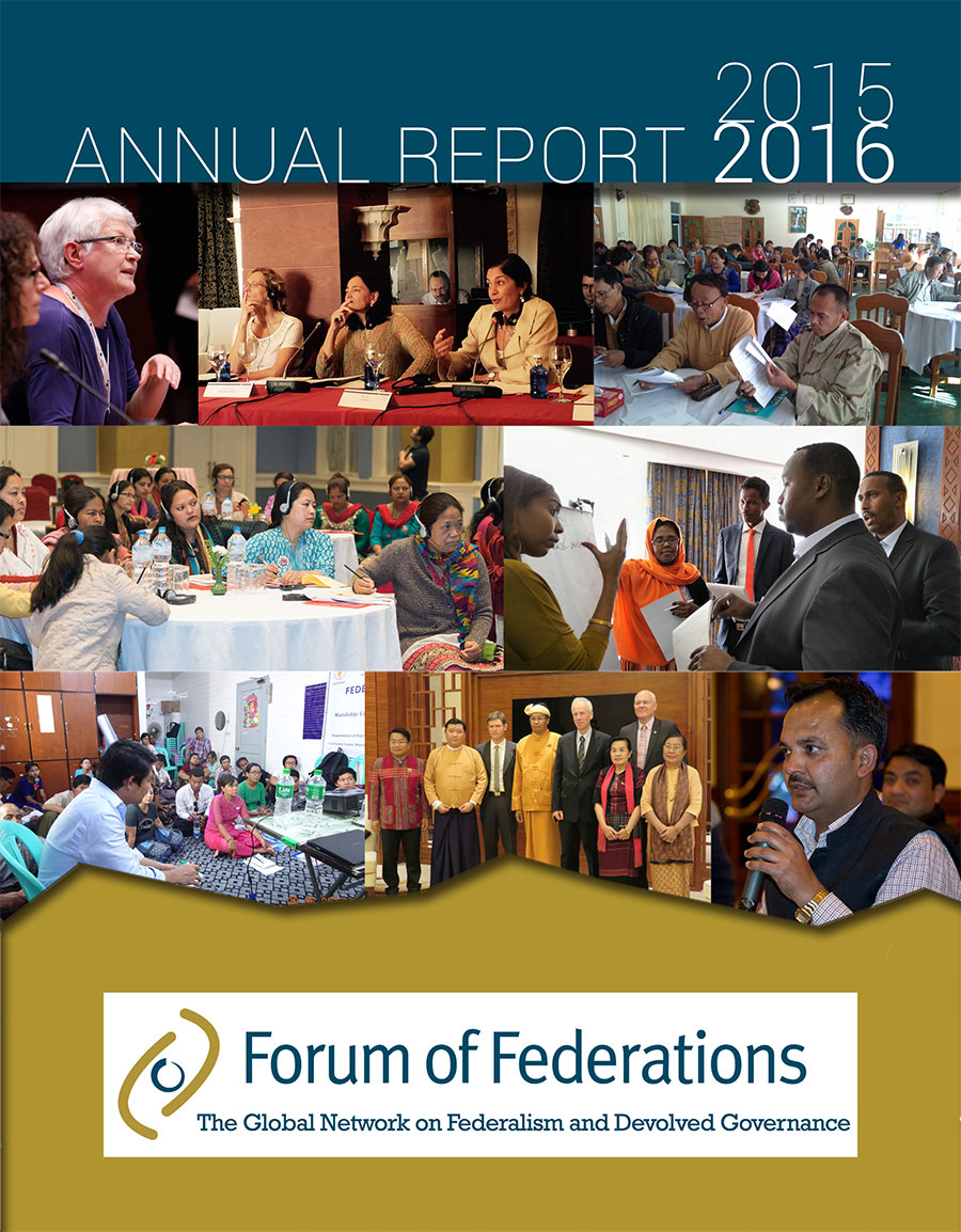 Forum of Federations' Annual Report for 2015-2016