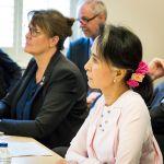 (L-R) Ambassador Karen MacArthur and H.E. Daw Aung San Suu Kyi