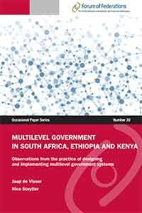 Multilevel Government in South Africa, Ethiopia and Kenya Number 20 Cover