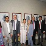 From L to R, Senator Salma Ataullajhan; Senator Aurangzeb Khan; Deputy Director Phillip Baines of the Pakistan and Bangladesh division, Global Affairs Canada; Vice Chair Salma Siddiqui; Mona Fortier, MP; Deputy Chairman Saleem Mandviwalla; Senator Muhammad Javed Abbasi; Deputy Speaker Bruce Stanton, MP.