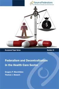 Federalism and Decentralization in the Health Care Sector Number 24 Cover