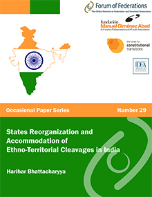 States Reorganization and Accommodation of Ethno-Territorial Cleavages in India   Occasional Paper Number 29 Cover