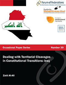 Dealing with Territorial Cleavages in Constitutional Transitions Iraq Number 30 Cover
