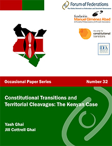 Constitutional Transitions and Territorial Cleavages: The Kenyan Case: Number 32 Cover
