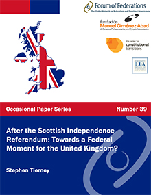 After the Scottish Independence Referendum: Towards a Federal Moment for the United Kingdom? : Number 39 Cover