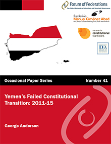 Yemen's Failed Constitutional Transition: 2011-15: Number 41 Cover