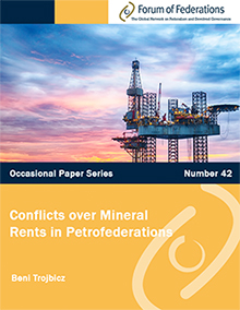 Hot Off The Press! Occasional Paper #42: Conflicts over Mineral Rents in Petrofederations Cover