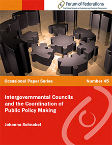 Intergovernmental Councils and the Coordination of Public Policy Making: Number 45 Cover